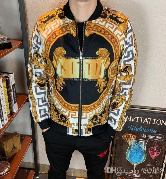 Neue hochwertige europäische Jacke für Herbst und Winter, Luxus-Mode-Linie für Männer tragen Partei, Größe M ~ 3XL # 609