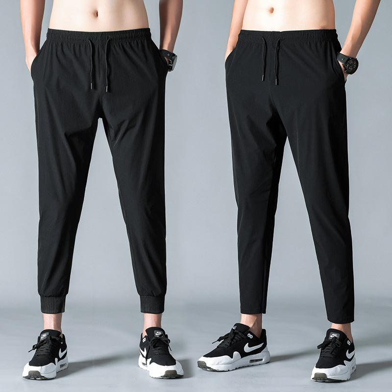 Men's Casual Pants Spring and Summer Men's Korean-Style Loose Fashion Spandex Sports Ninth Pants Fashion Ankle Banded Men