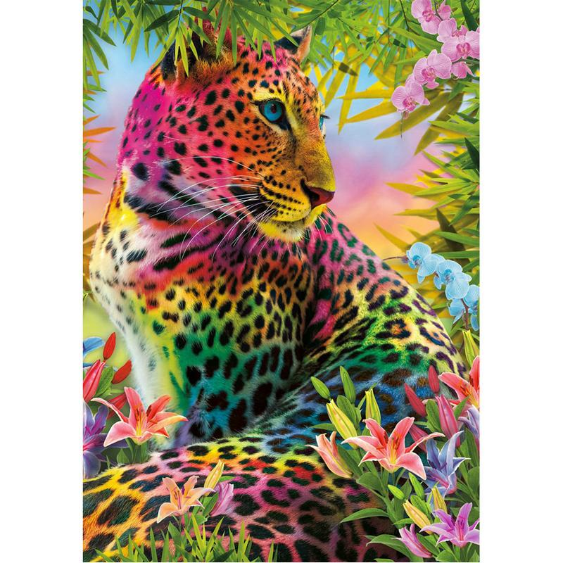 Drill brillantemente Leopard pieno del 5D rotonda strass ricamo diamante Pittura Cavallo Punto Croce Kit mosaice ornamentale Animal