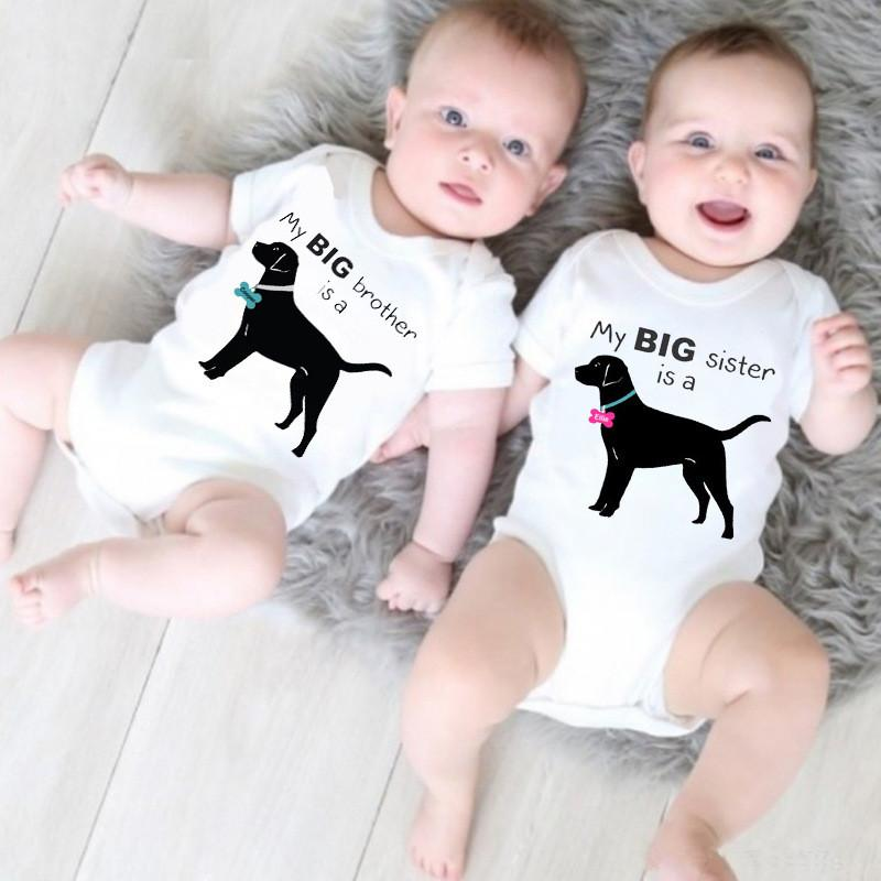 2020 Newborn Baby Cotton Rompers Funny Dog Baby Boy Girls Twins Baby Short Sleeve Jumpsuits Roupas Bebes Infant Clothes From Babyclothes168 15 9 Dhgate Com