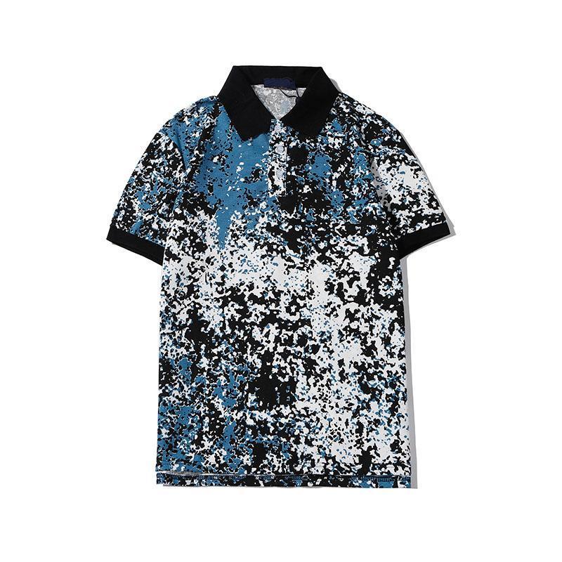 2020 new designer men T-shirt LVS luxury top brand poloshirt unique irregular pattern printing design shortsleeve fashion casual slim Tshirt