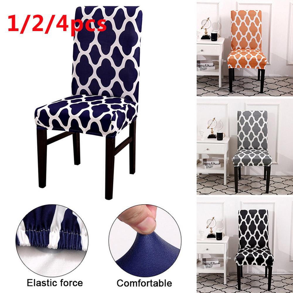 1 / / 4 개 의자 커버 스판덱스 스트레치 탄성 Slipcovers 인쇄 좌석 의자 룸 부엌 웨딩 연회 호텔 식사를 위해 커버 2