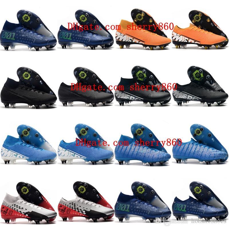 2019 herren Fußballstühle Mercurial Superfly 7 Elite SG-PRO AC Soccer Schuhe Günstige CR7 Mercurial Dampf 13 Elite SG-Pro Football Boots