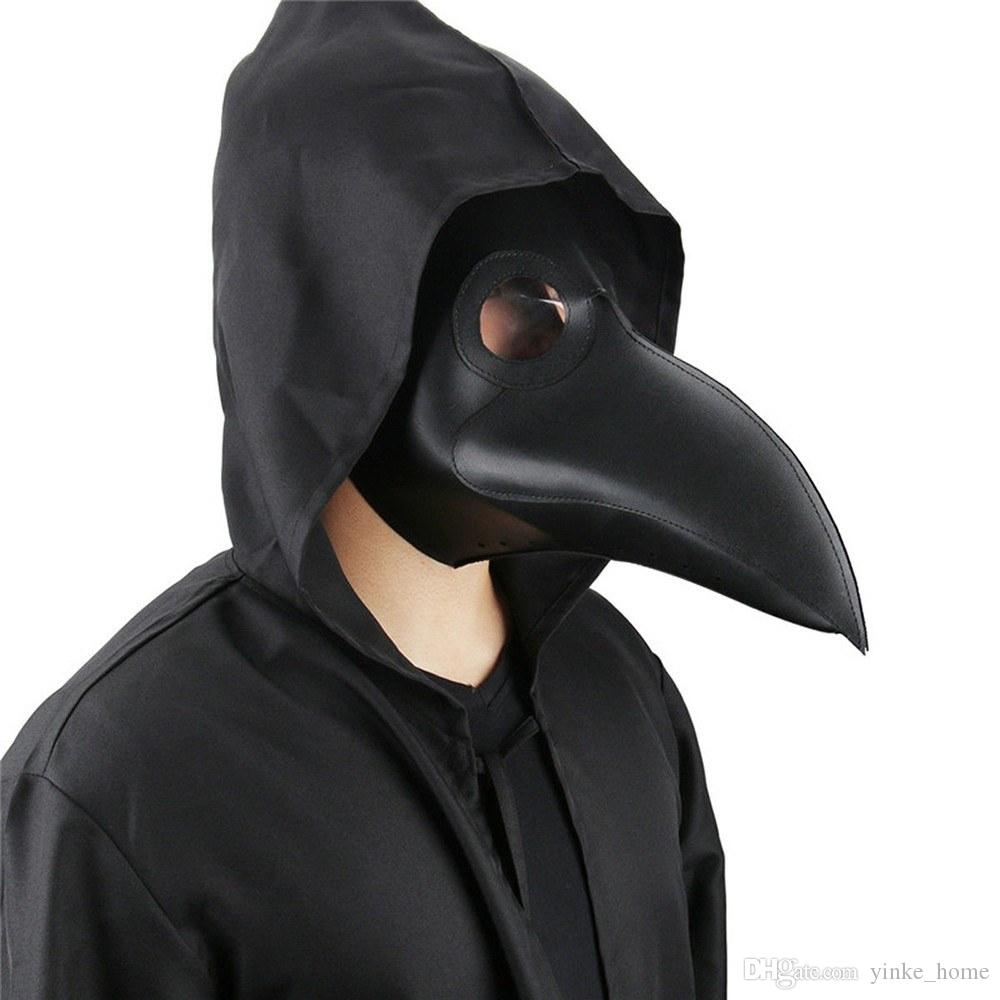 Halloween Plague Doctor Mask Birds Long Nose Beak Masks Gothic Retro Rock Leather Masquerade Costume Cosplay Party Props Party Fancy Dress