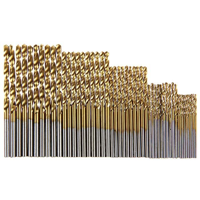 Çok tipi yüksek hız çeliği titanyum kaplı büküm matkap ucu Düz incik matkap el matkabı 1.0-3.0mm yuvarlak sap