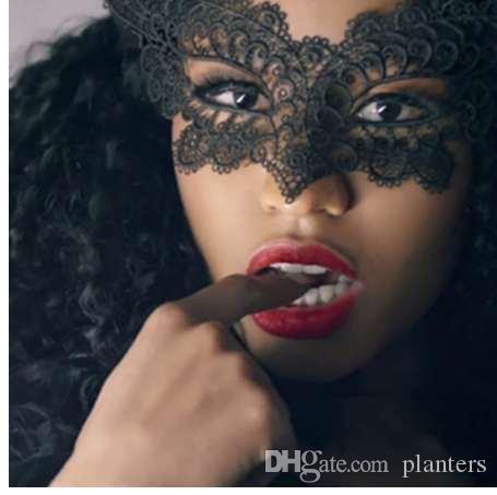 1 ADET Sıcak Satış Siyah Seksi Lady Dantel Maske Göz Maskesi Masquerade Partisi Fantezi Elbise Kostüm / Cadılar Bayramı Partisi Fantezi