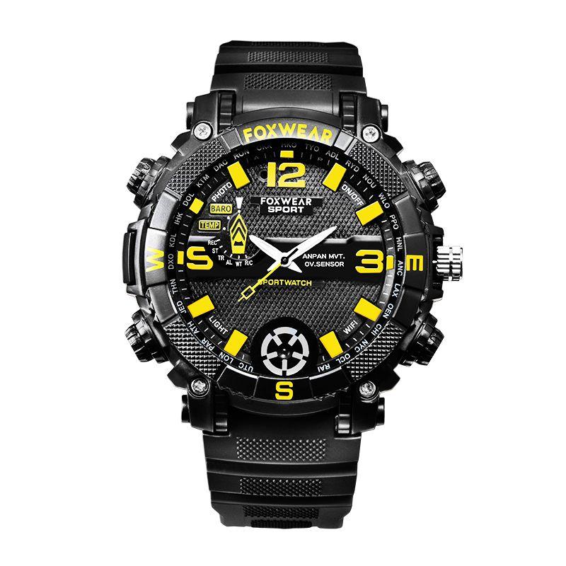 FOX9 HD reloj del deporte cámara de vídeo mini cámara de Wifi de la cámara resistente al agua IP 16 GB 32 GB 720P reloj de pulsera con luz LED