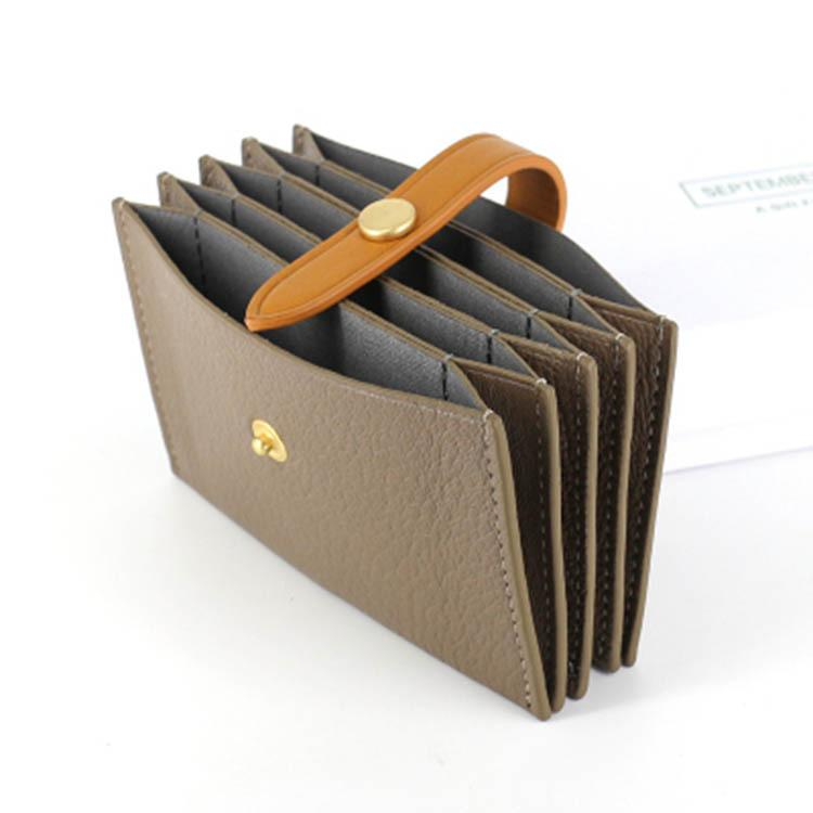 Benutzerdefinierte Organ Kartentasche Leder mit hohen Kapazität Karte Satz von Schaffell Akkordeon Frau Buckles Mini Wechsel Kartenpaket