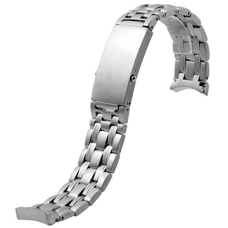 JAWODER Erkekler 20mm 22mm Gümüş Fırçalanmış Katı Paslanmaz Çelik Kavisli Sonu Watch Band Kayışı Bilezik için Omega Izle
