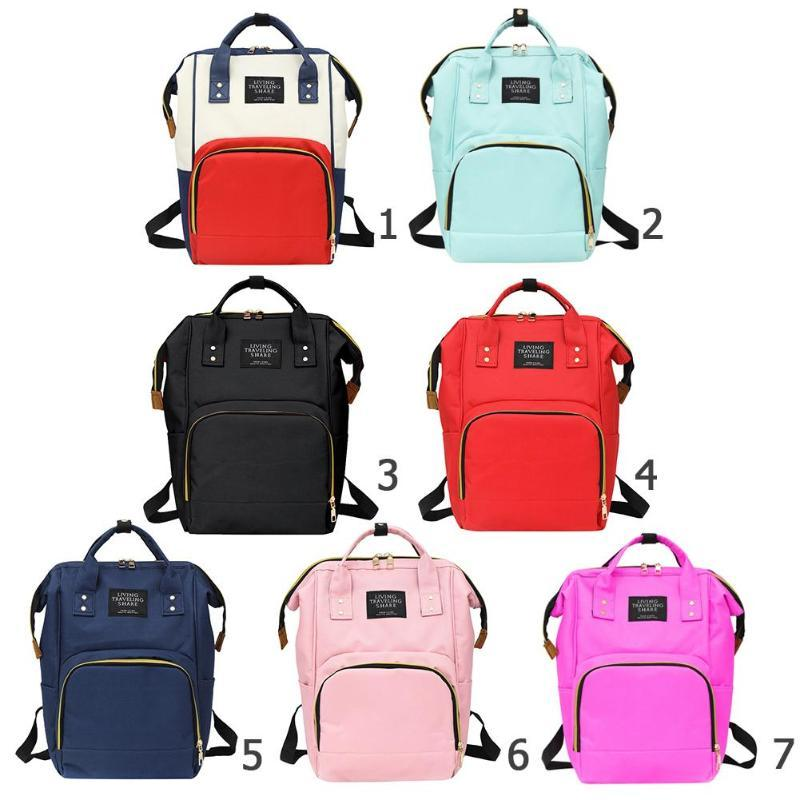 Mulitfunction mamá bolsas de pañales de gran capacidad mujeres de la cremallera viajes Compras mochilas bolsos de hombro del panal Bolsas de enfermería