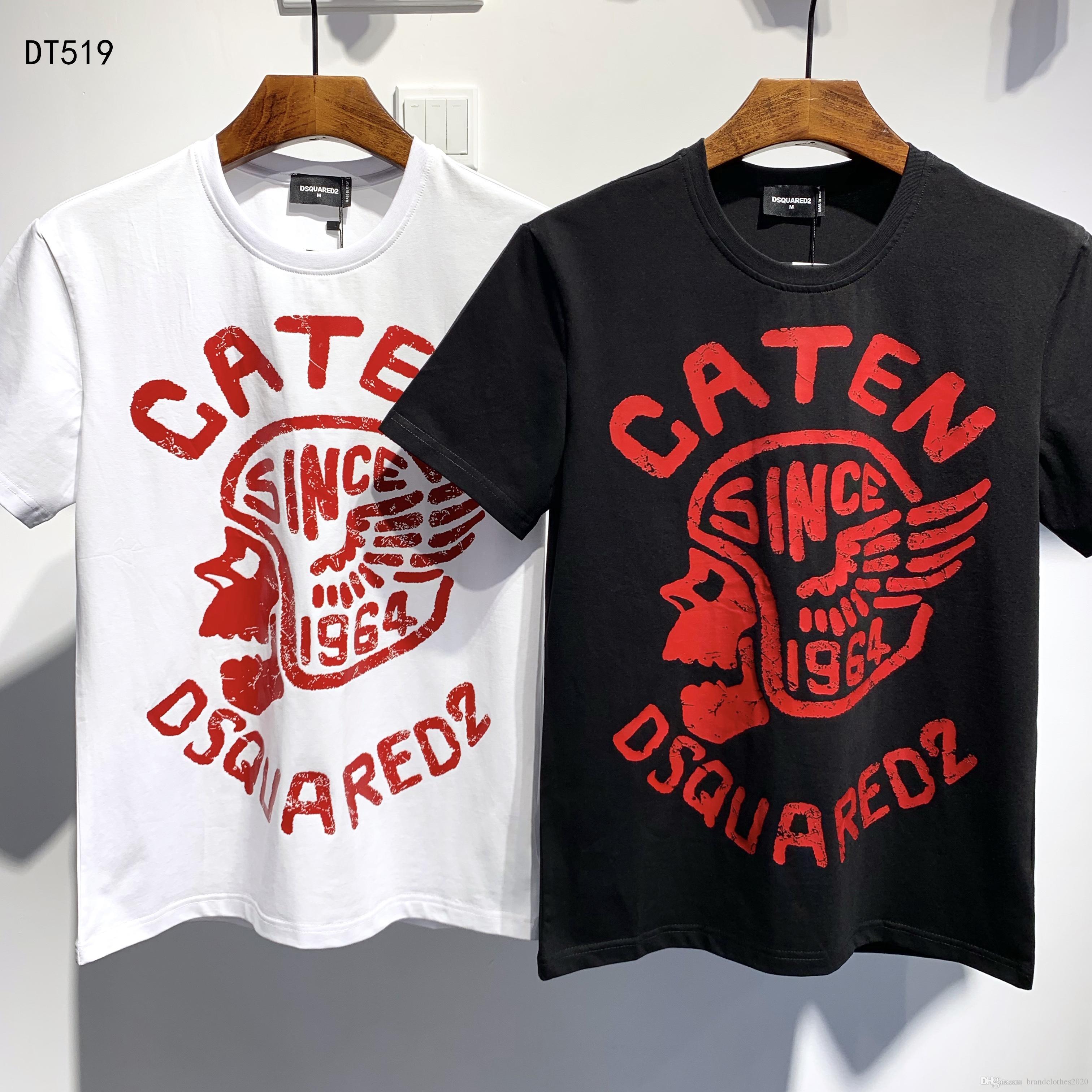 최고 품질 여름 패션 디자이너 ICON의 T 셔츠 # 005 유럽 D2 오프 럭셔리 남성 여성 셔츠 화이트 반소매면 프린트 티 메두사
