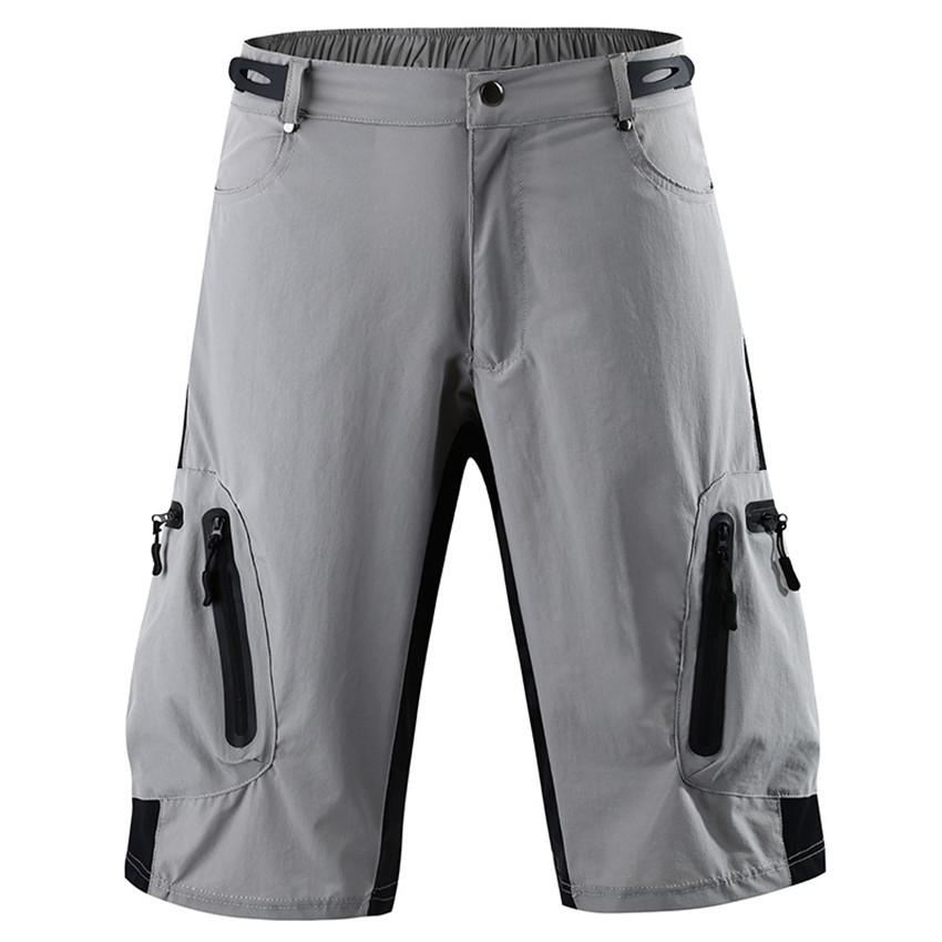 Motociclista respirável Mens Shorts Sólidos Pants colorida Esportes Homme curtas casual solta mediana cintura Calças masculinas