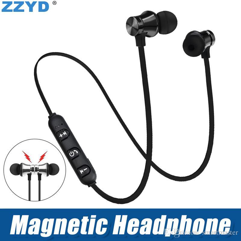 ZZYD магнитные наушники шумоподавления в ухо XT-11 гарнитуры Bluetooth Беспроводные наушники для iP8 8s Макс Samsung с розничной коробке