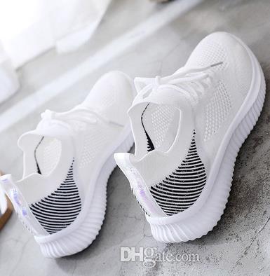 GERPY Zapatos Blancos Transpirables de Verano Estudiante de Malla Salvaje Femenina 2019 Nueva Correa de Fondo Plano Zapatos Casuales Marea Femenina