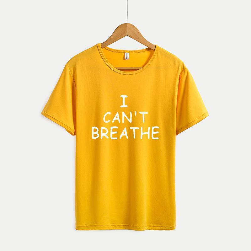 No puedo respirar casuales para hombre camisetas para mujer de la corto-manga de las camisetas de la Juventud del color sólido de la impresión Outdoorwear 2020 nueva venta caliente