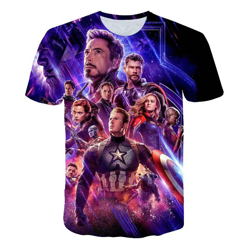 estilo de la calle nueva camiseta de la manera hombres y mujeres vengadores guerra final 3D camiseta impresa manga corta harajuku t # 54545hb