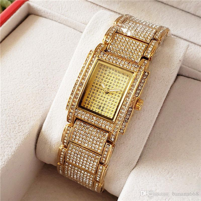 wholesale luxury mens women watches top quality iced out watch automatic quartz movement diamond wristwatches women lady orologio di lusso