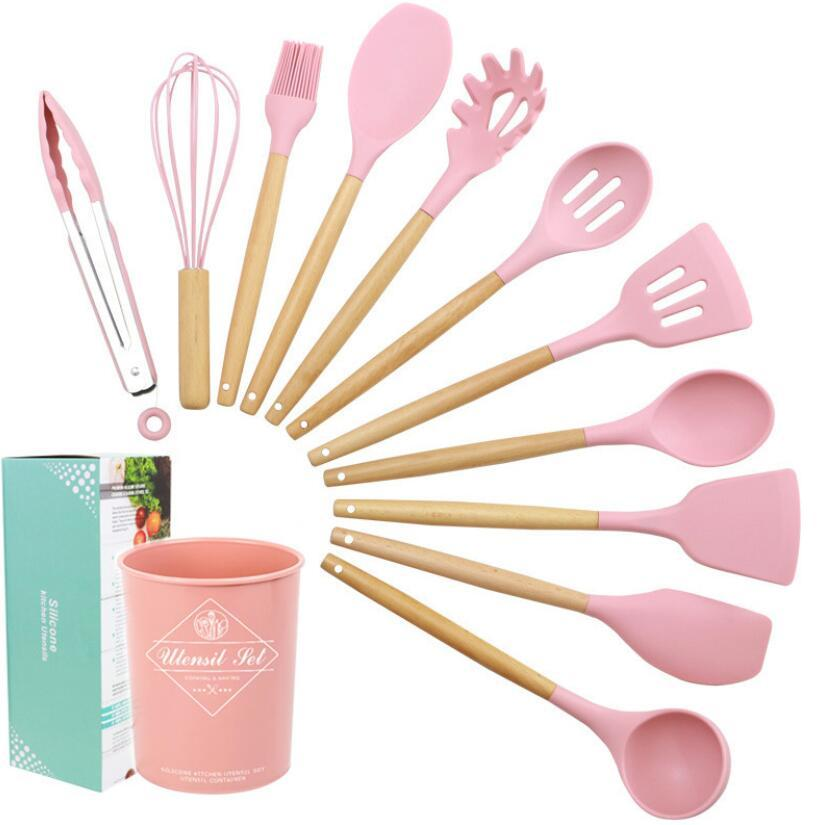 2020 Advanced Silicone Wooden Handle Set Cooking Tool Set Kitchen Chef Set With Storage Box Spatula Spoon Kitchen Baking Cooking Tools From Kelly1007 25 13 Dhgate Com