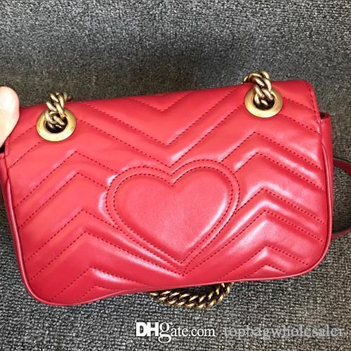 new famous brand Classic marmont cowhide handbag messenger bag women genuine leather chain shoulder bag high quality