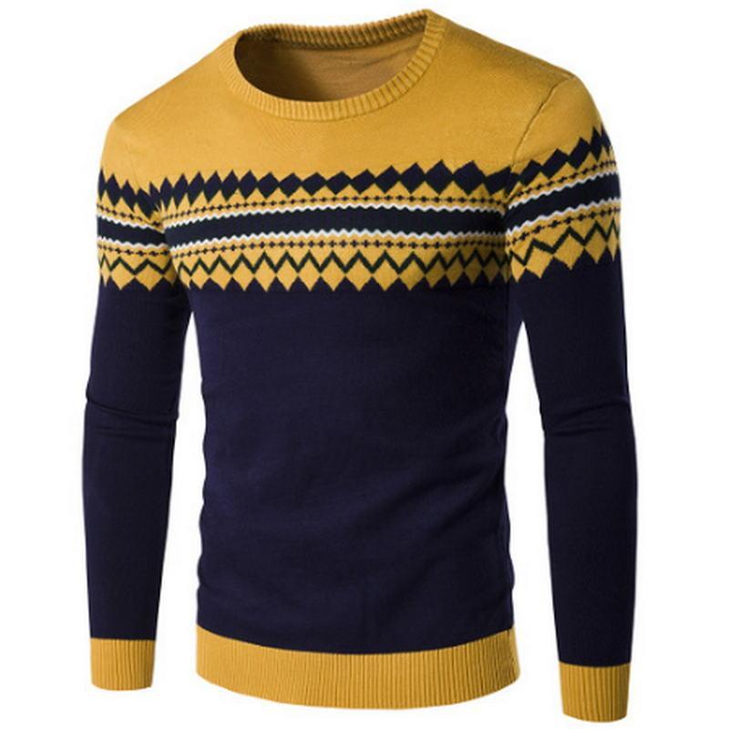Herren Pullover 2019 nagelneue Herbst-Winter-Pullover Männer Pullover Baumwollbeiläufiges O Neck Sweater Male Strick