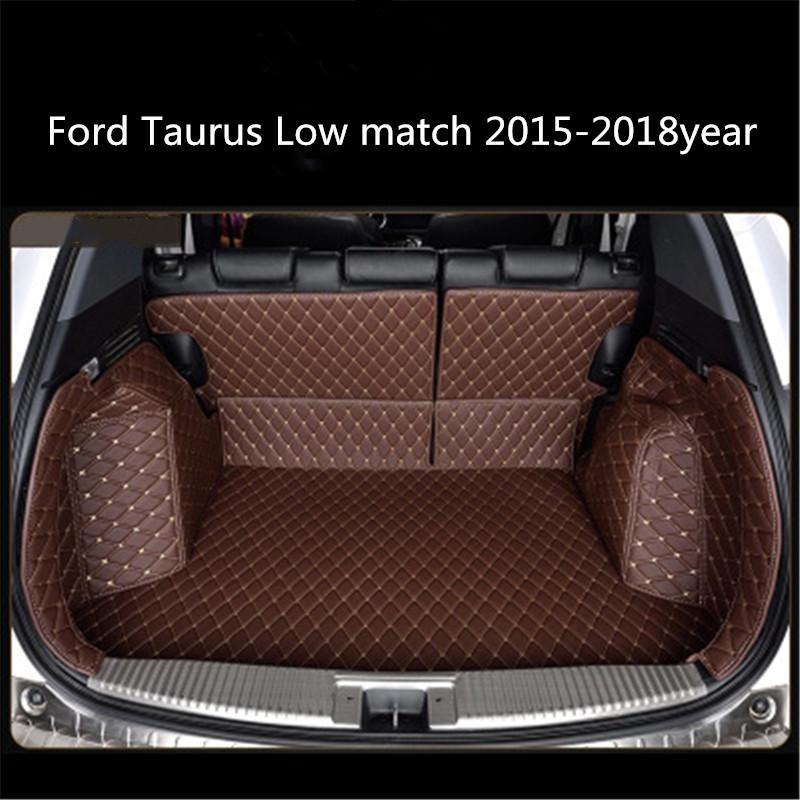 для Ford Taurus Низкий матч 2015-2018year Кожа автомобилей Магистральные Полный Объемный коврика палет Ковер