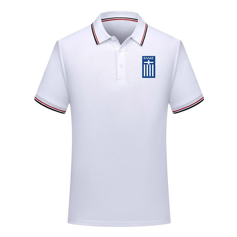 2020 Yunanistan Avrupa Kupası Polo gömlek futbol formaları Futbol Polos 2020 Yunanistan milli takım Kısa Kollu polos futbol Polos Hayranları Tops