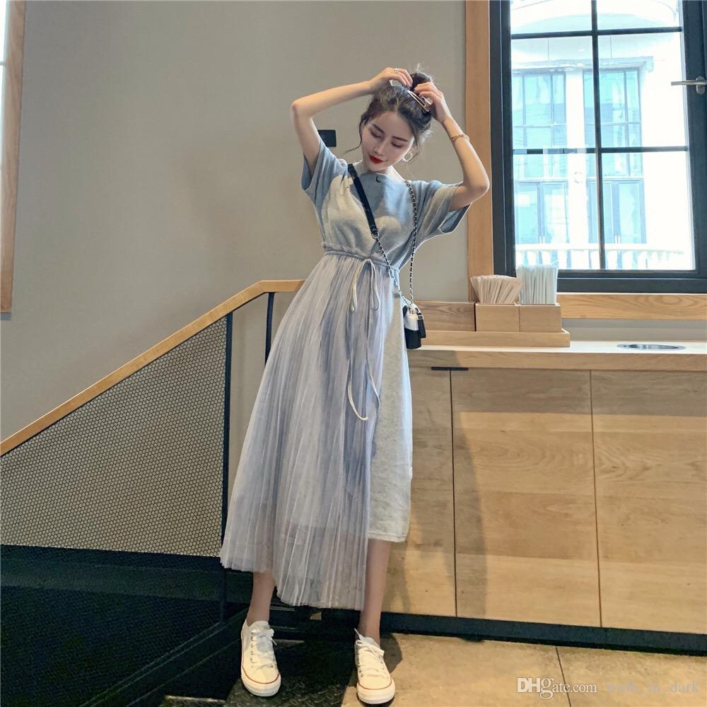2019 nuovo arrivo Ins Super Fuoco Panelled carino e bella gonna della ragazza di svago femminile e retrò Version