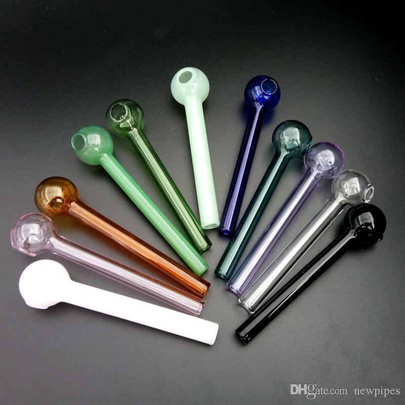 Colorful bruciatore tubi di olio Pyrex vetro bruciatore di olio Tubo 10cm grande tubo di bruciatore di olio di vetro per fumare 11 colori scegliere