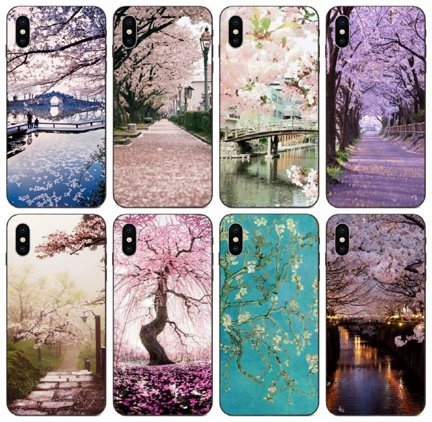 [TongTrade] Comics Manga Caricature Pink Cherry Blossom Japan Sakura Case For iPhone 11 Pro Max X XS 6s 5s 5c 5 Plus Galaxy A40s A50s Case