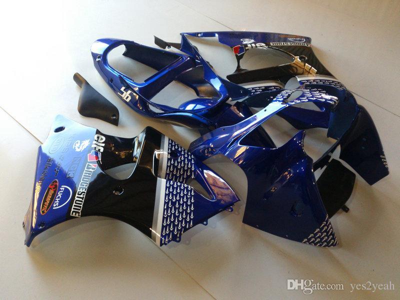 Injectie Keuken Kit voor Kawasaki Ninja ZZR600 05 06 07 08 ZZR600 2005 2008 ZZR 600 05 08 Blue Backings Body Kit KZ43