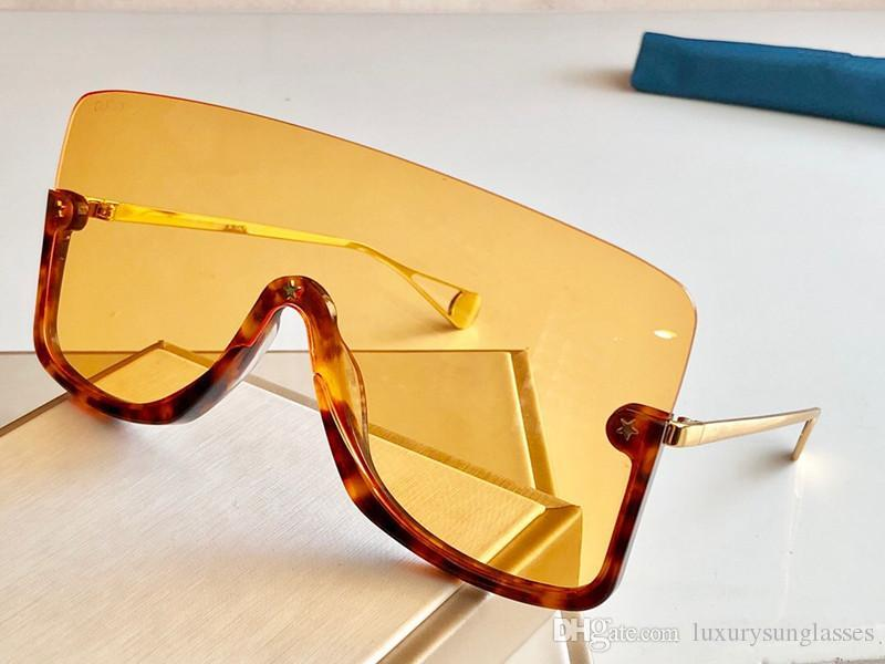 New fashion designer sunglasses 0540 connected lens big size half frame with small star avant-garde popular goggle top quality 0540S