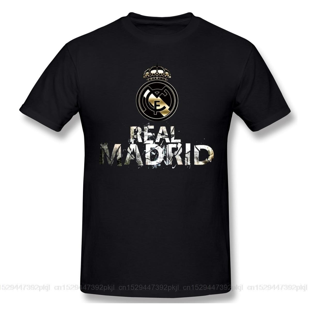 Enfriar real Madrided logotipo divertido camiseta de los hombres verano de las mujeres del cuello de O Casual Camiseta de algodón Camiseta gráfica del cuello de equipo Top T200516