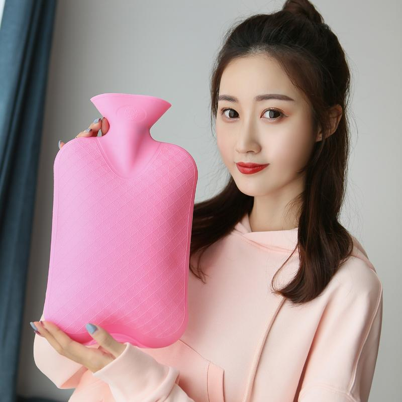 2000ml Hot Water Bottle High Density PVC Explosion-proof Hot Water Pack Bag Health Care Warm Palace Warm Waist Hand Warmers Bags T191109