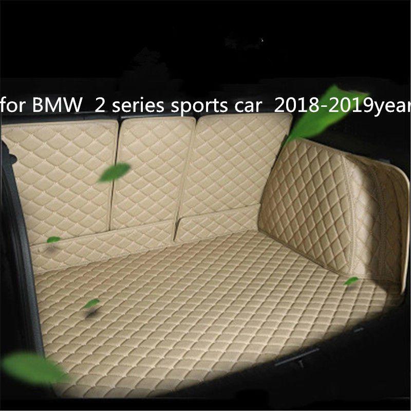 pour BMW 2 sports série voiture 2018-2019year voiture cuir Trunk Full Surround Tapis de sol Tapis de palettes