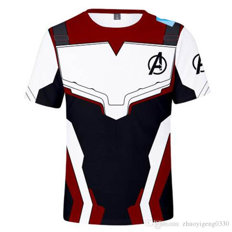 Avengers 4 Endgame t shirt Cosplay Quantum Realm T-shirt Men Women Superhero Iron man Thanos 3D Printed Casual Tops Tees