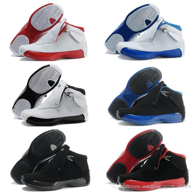 CALIENTE nuevo 2019 baratos XVIII 18s 18 Gimnasio Rojo Negro Azul real para hombre de los zapatos de baloncesto generación de negro y azul atletismo deporte zapatilla de deporte