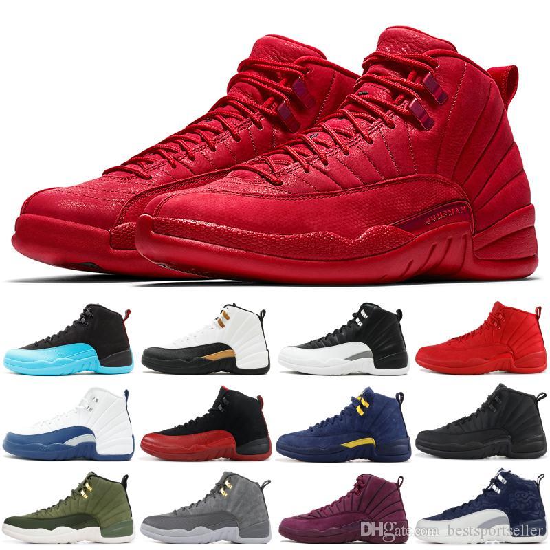 retro nike air jordon Palestra Red scarpe da basket 12 ovo ali bianche maestri 12s CNY Taxi Mens di alta qualità scarpe Trainer Sport