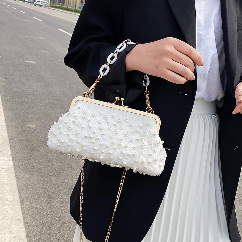 2020 nova pérola fivela vestido Saco fêmea senhoras retro saco envelope senhora embreagem