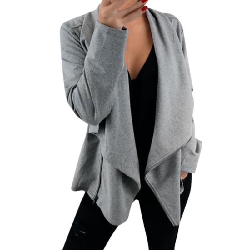 Jaquetas Mulheres Mulheres Manga Longa Aberto Frente Cardíbomo Cardigan Terno Jaqueta Trabalho Office Coat Top Lady Casual Outerwear Manteau Femme Hiver 2021