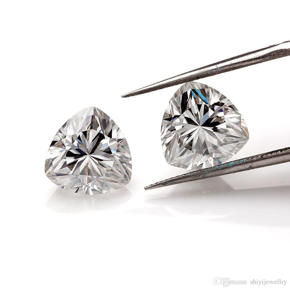 0.1ct a 5,0 ct trilioni di trilioni di taglio Real D FL Clarity Slip Moissanite Pietra Penna Diamond Penna Diamond Penna per sempre Shinhing Spedizione gratuita