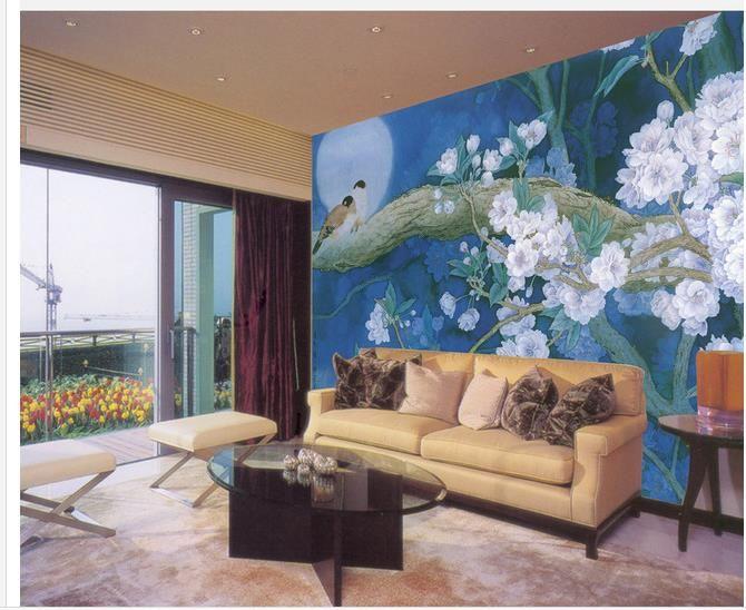 Moonlight Fondo chino mural de pared papel tapiz 3d papeles de pared 3d para telón de fondo de televisión