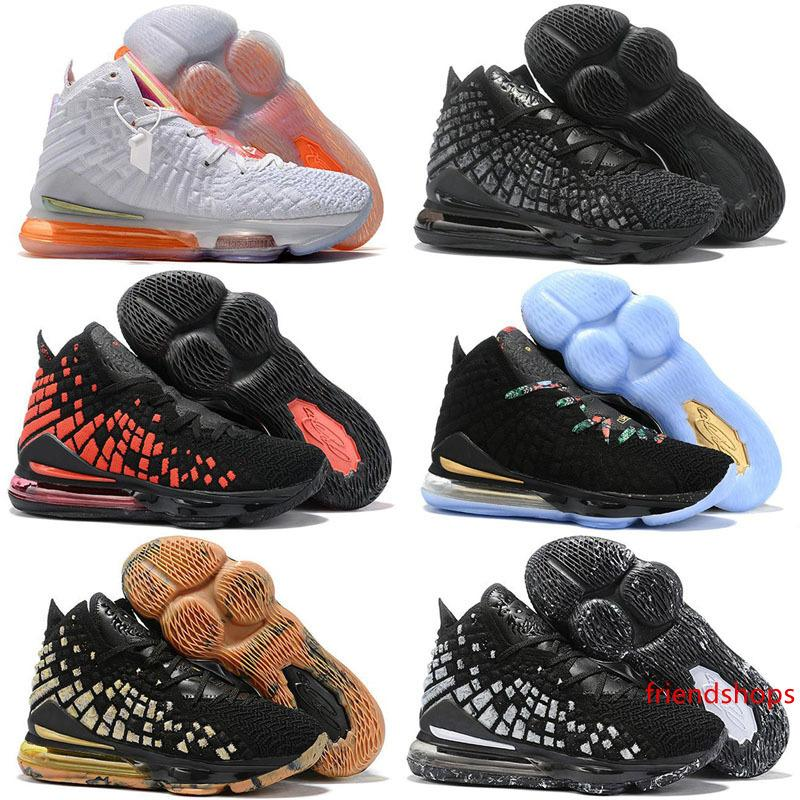 2020 nouvelles chaussures LeBron XVII 17 Chaussures Hommes 17s Athletic loup gris lebron 17 Taille 36-46