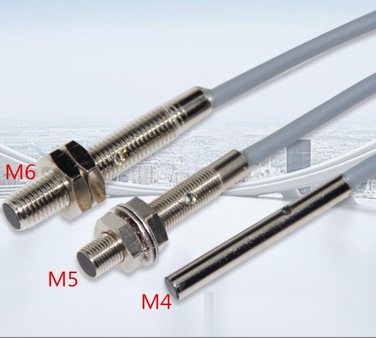 5 STÜCKE M4 M5 M6 Induktive Näherungsschalter Sensor 3 Draht DC10-30V 500 HZ 100mA Erfassungsabstand 1mm NPN / PNP