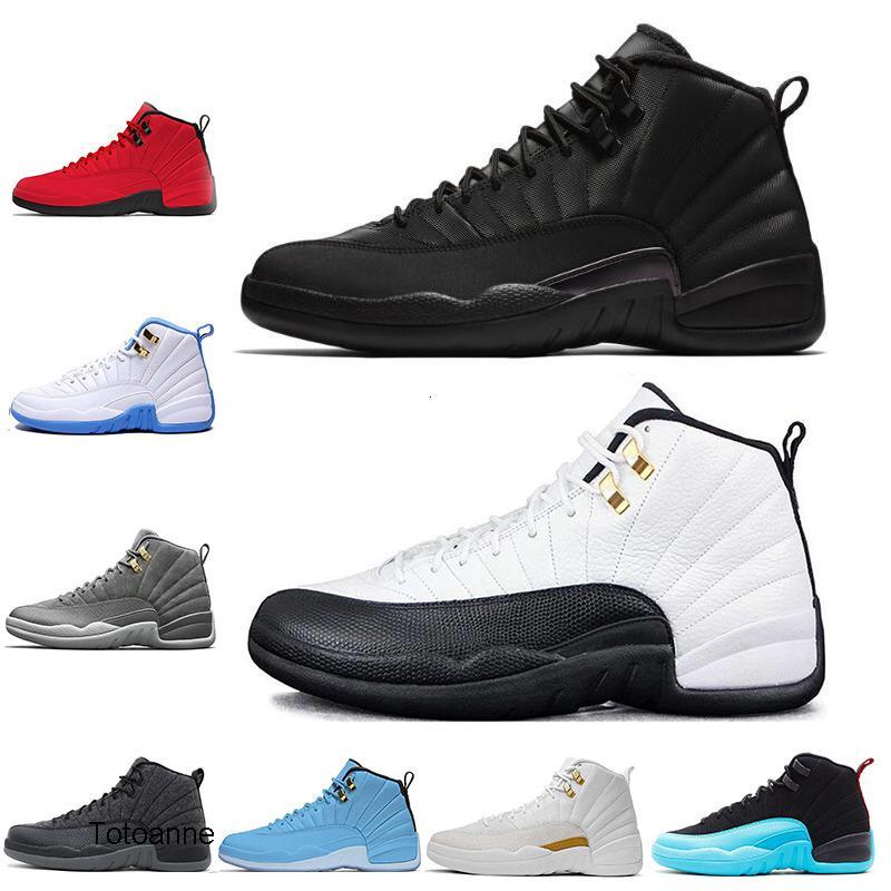 12s Hommes chaussures de basket-ball hiberné WNTR Gym Red Michigan Bordeaux 12 Le Master grippe sport de taxi jeu espadrille formateurs taille 7-13