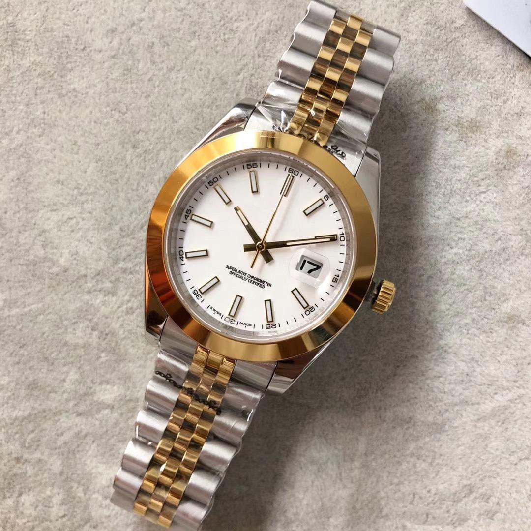 클래식 남성 시계 41mm DATEJUST 기계 자동 톱 시계 스테인레스 스틸 비즈니스 패션 마스터 대통령 남성 손목 시계