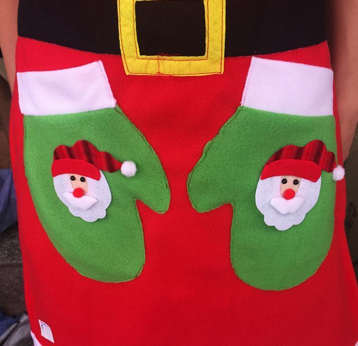 Christmas Feeding Gift Waterproof Apron Fancy Dress Outfit Santa Claus Baby Bib
