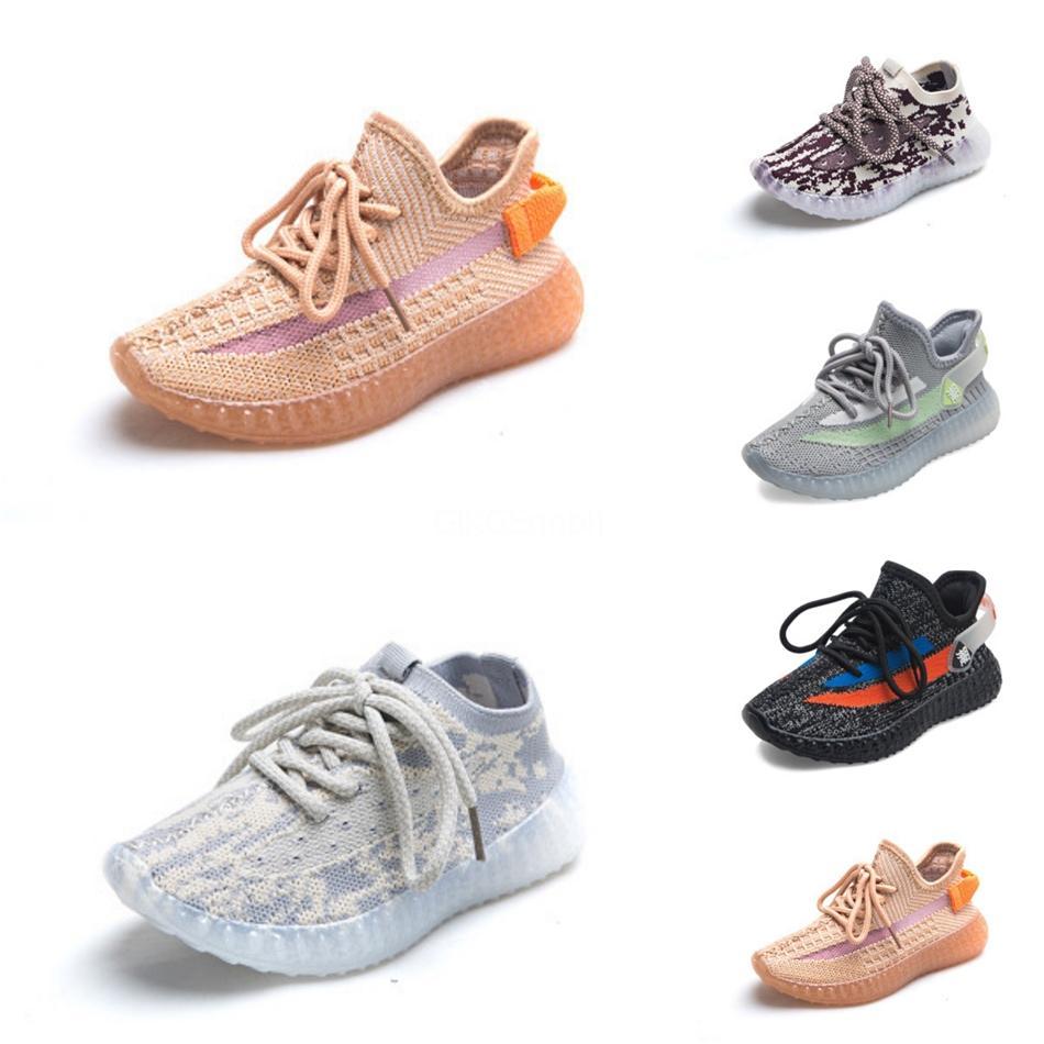 Bambini Kanye West Shoes V2 bambini pattini atletici delle ragazze dei ragazzi Beluga esecuzione 2.0 Sneakers Nero Rosso 26-35 # 550