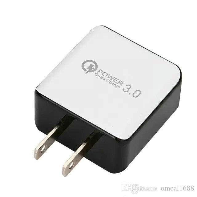 QC 3.0 Wall Wall Charger USB سريع شحن 5 فولت 3A 9 فولت 2a السفر محول الطاقة شحن سريع لنا الاتحاد الأوروبي التوصيل لسامسونج Xiaomi الهاتف الذكي