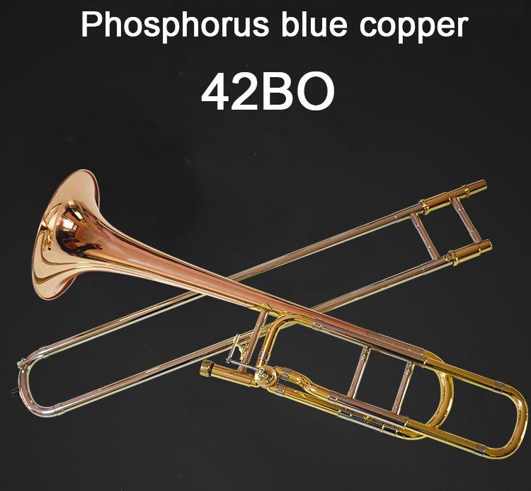الولايات المتحدة باخ BACH 42BO الترومبون انخفاض B نغمة اللحن الفوسفور والنحاس المهنية آلات الموسيقى شحن مجاني