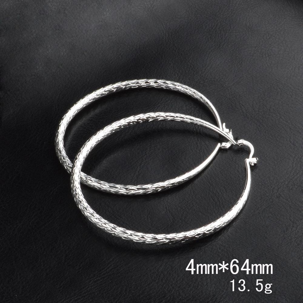joyería de moda extranjera pendientes grandes y grandes pendientes de la moda círculo círculo de joyas chapadas extranjera y plata plateado mIH0B
